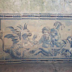Azulejos from 18th century, Palacio Fronteira