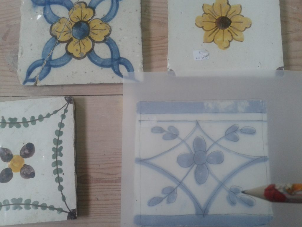 Azulejos pombalinos from 18th century