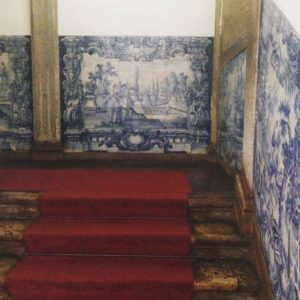 Starway with tile panel from 18th century