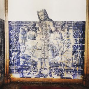 Figura de convite - tile panel from 18th century
