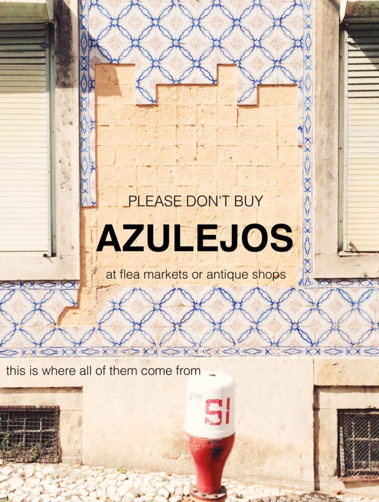 "Poster ""Please don't buy azulejos on flea market.."""