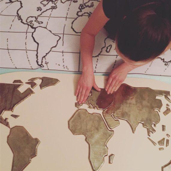 The World, ceramics , 80 x 140 cm
