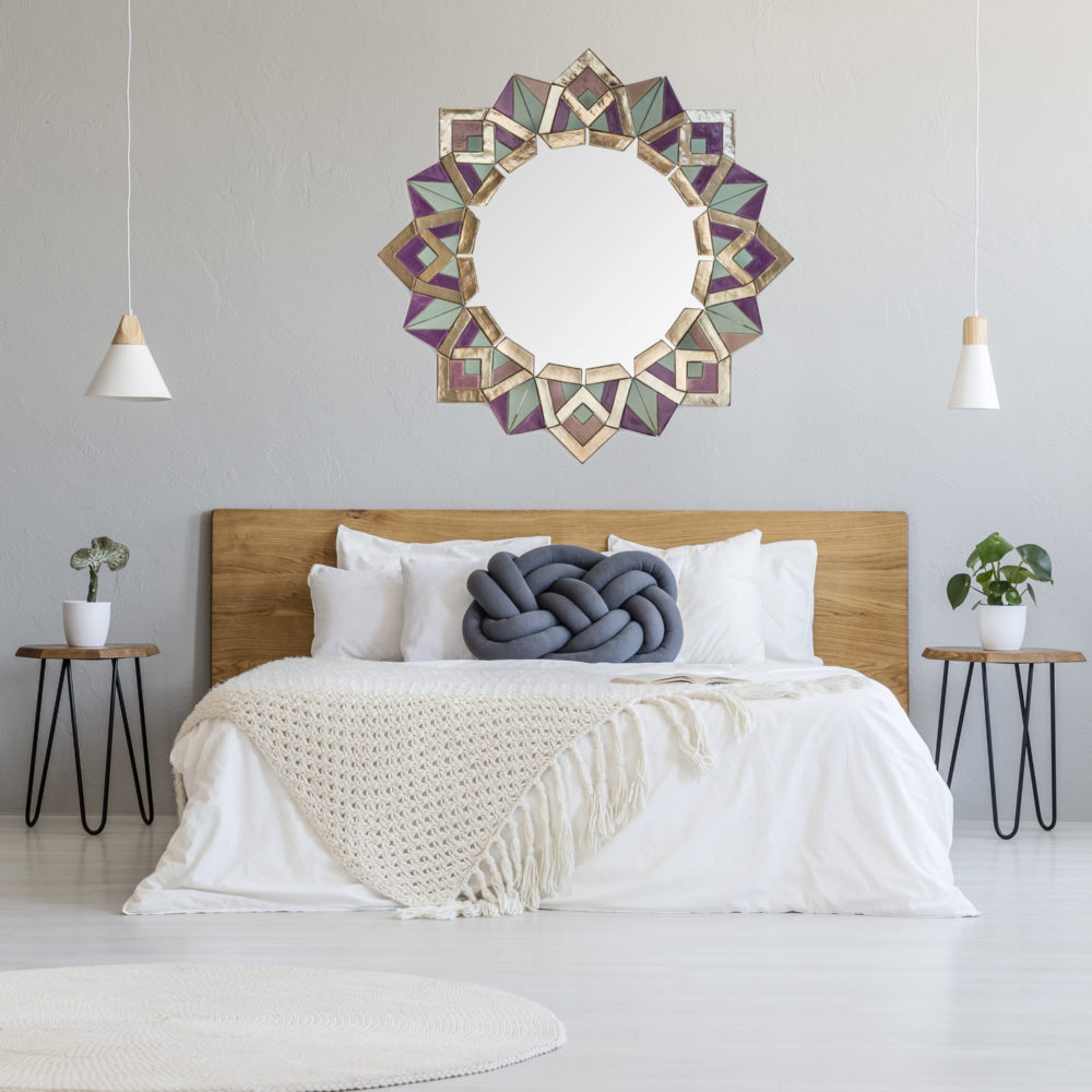 Bona mirror Solemika in bedroom interior